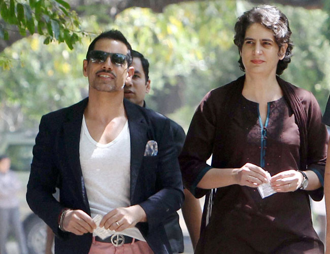 Image result for priyanka gandhi with robert