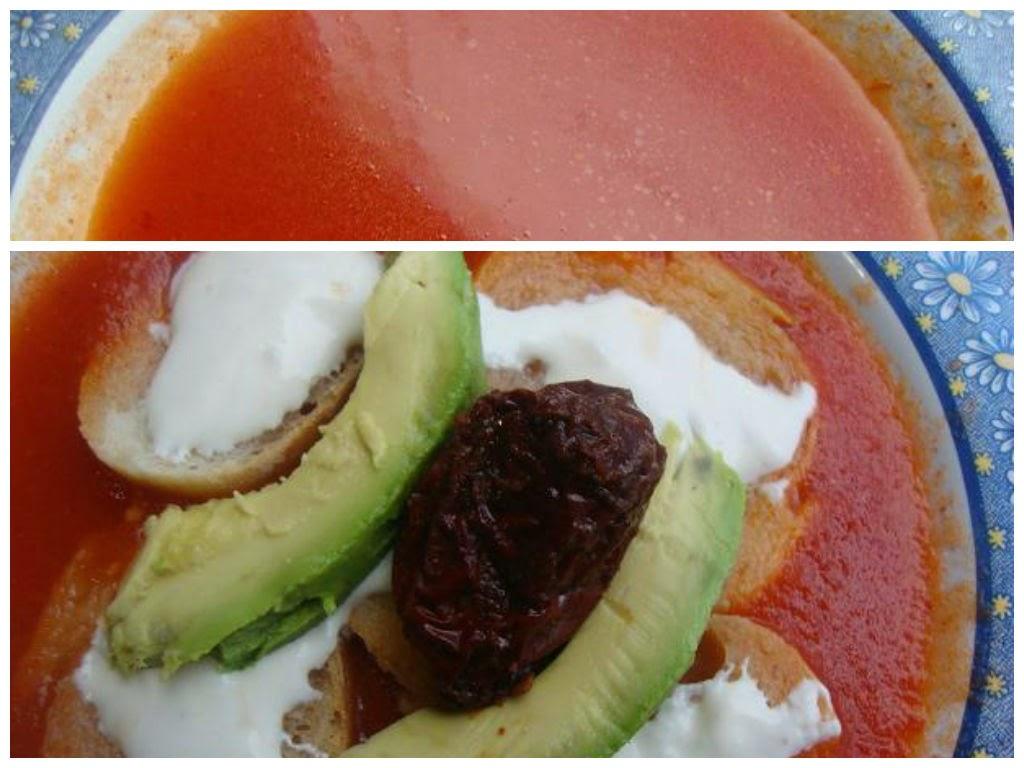 sopa de pan y tomate