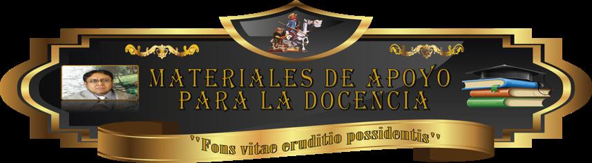 MATERIALES DE APOYO