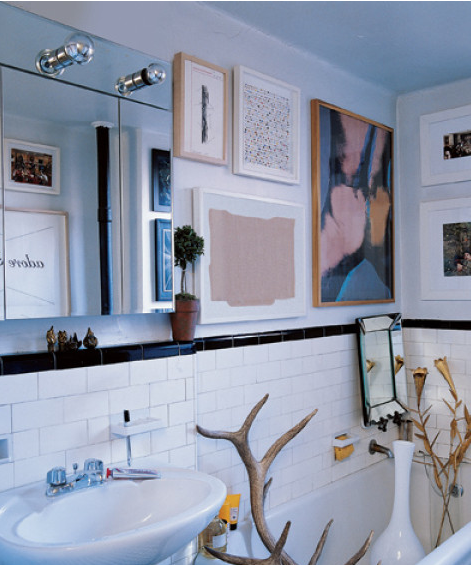 Bar chic art smart for Elle decor bathroom ideas