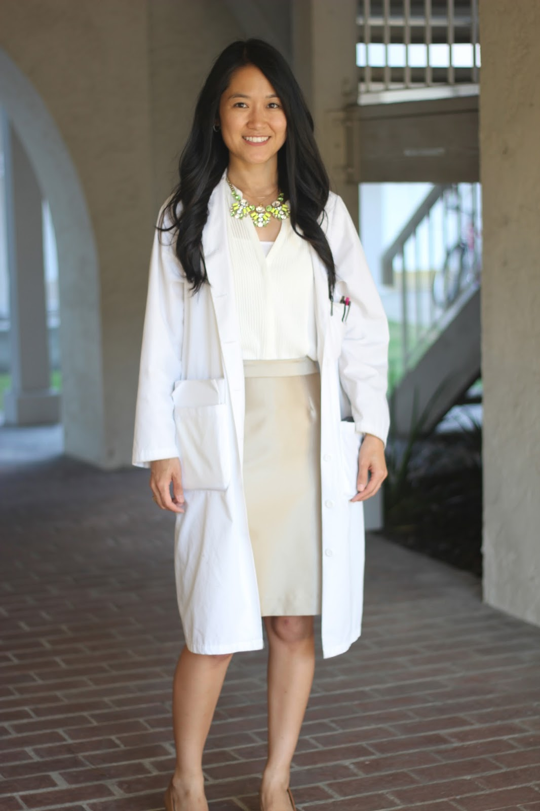 Life By Appointment: Work Outfit Series: Under My White Coat #3