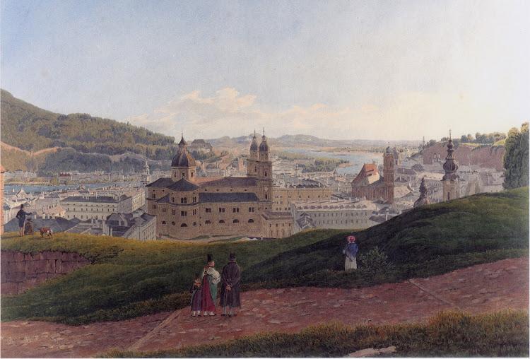 Rudolf von Alt - Ansicht von Salzburg 1831