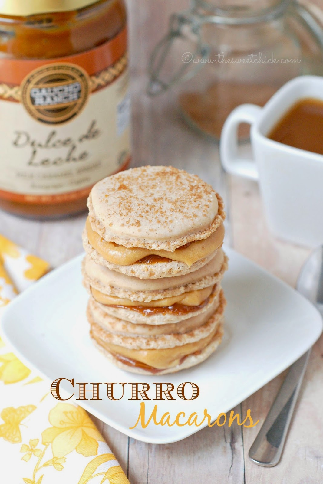 Churro Macarons - The Sweet Chick