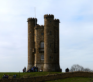 A busy Sunday at Broadway Tower, Cotswolds