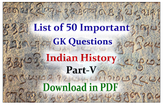 Important Questions from Indian History