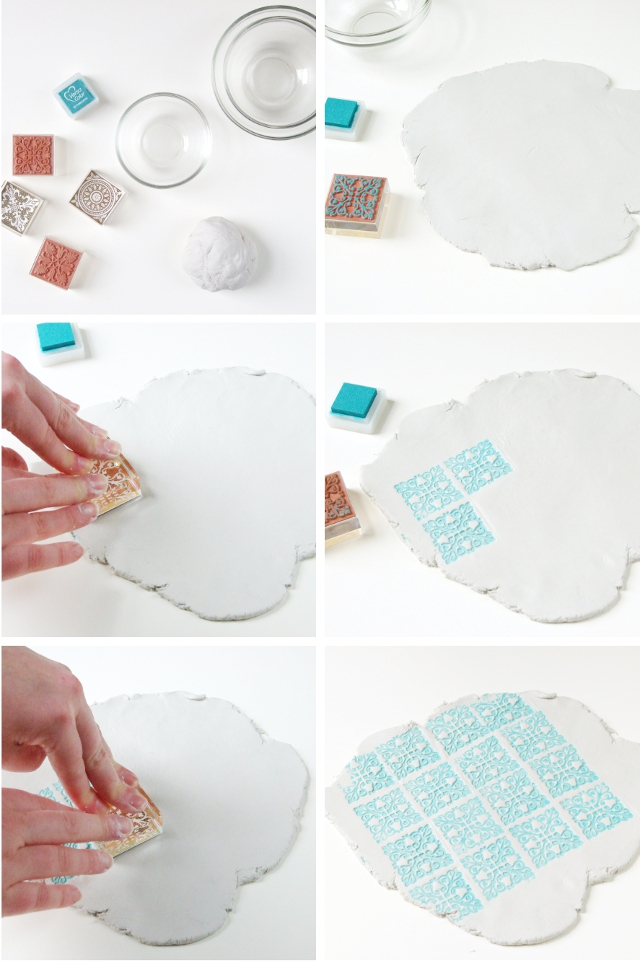 DIY STAMPED CLAY BOWLS Gathering Beauty