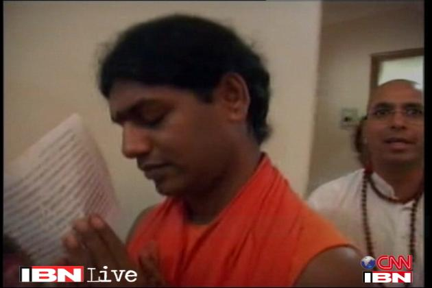 Behind every demon is a demon. Sex Swami Nithyananda reading his last rights ...