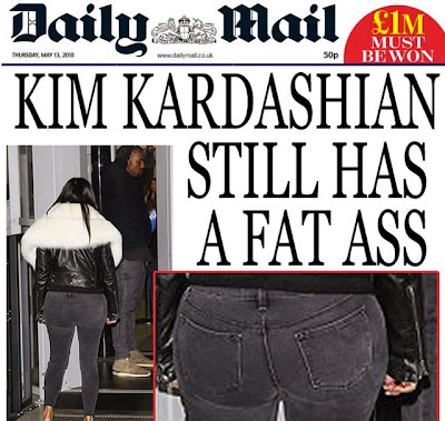 Kim Kardashian fat ass daily mail funny