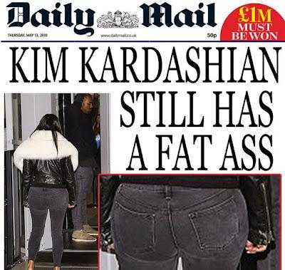 Kim Kardashian fat ass daily mail funny
