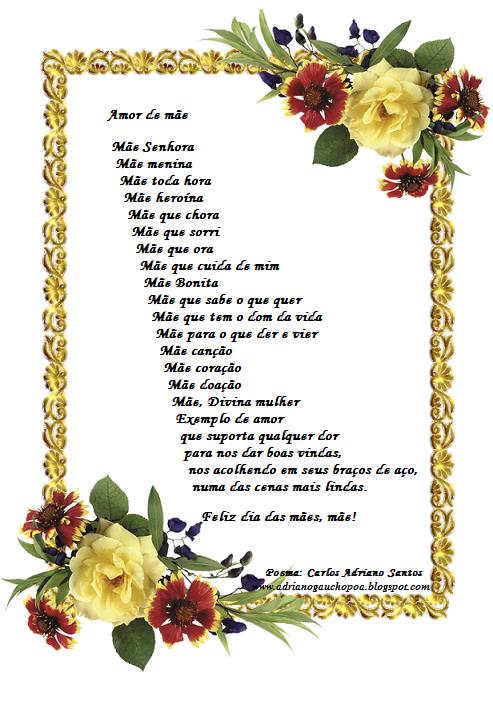 Amor de mãe - Poema de Carlos Adriano Santos - Adriano Gaúcho Poa
