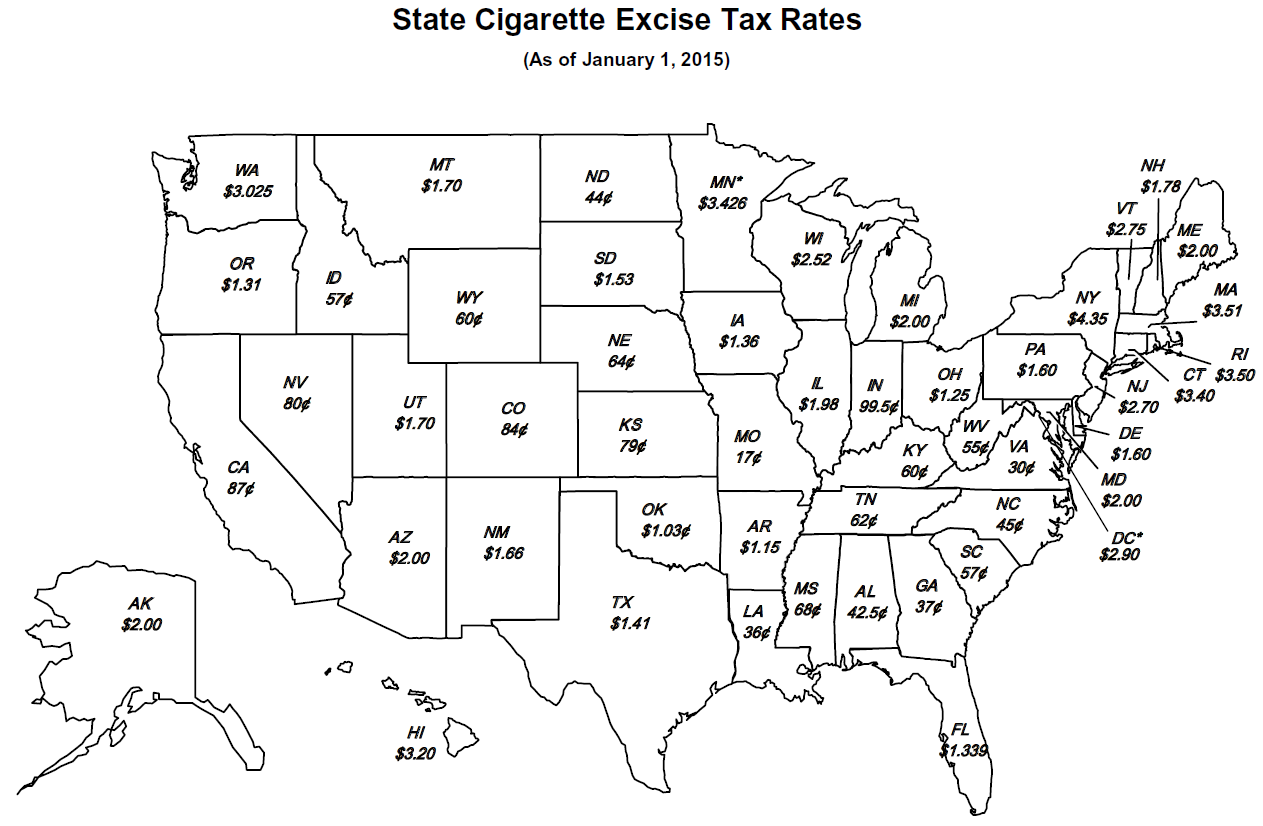 increase of the tax on cigarettes essay Taxing sin (alcohol, tobacco, junk food health insurance program, congress may increase the tax on chewing tobacco to 50 cents per pound and the federal.