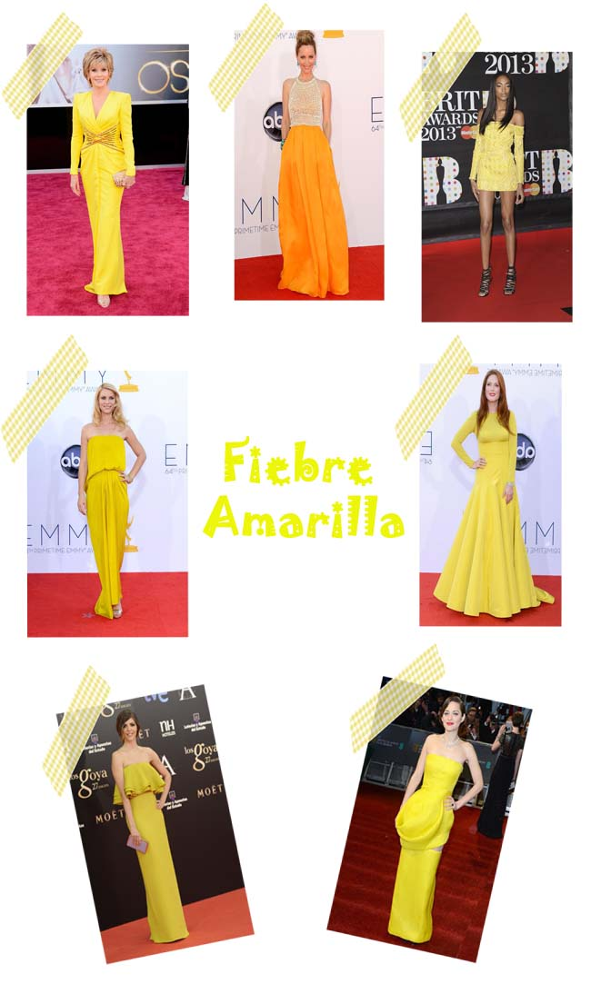 Vestidos Amarillos Red Carpet