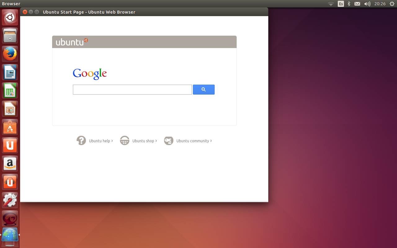 Review nuevo navegador de Ubuntu 14.04 LTS, browser ubuntu test