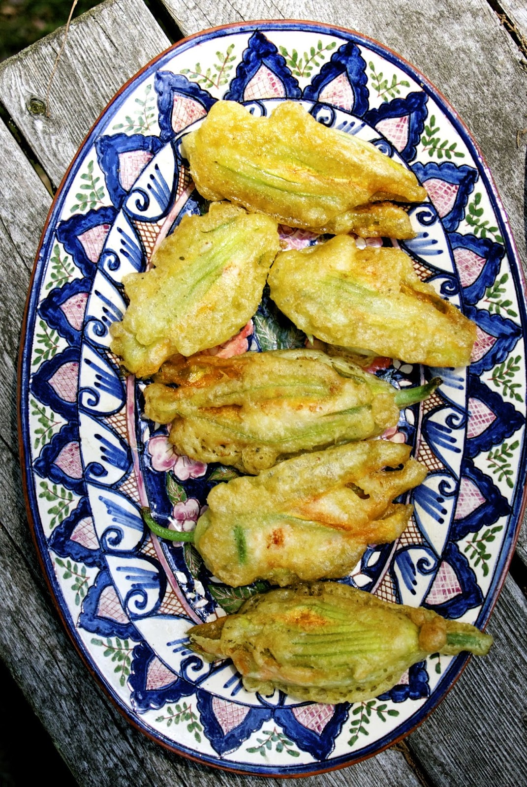 Shrimp Filled Zucchini Blossoms: simplelivingeating.com