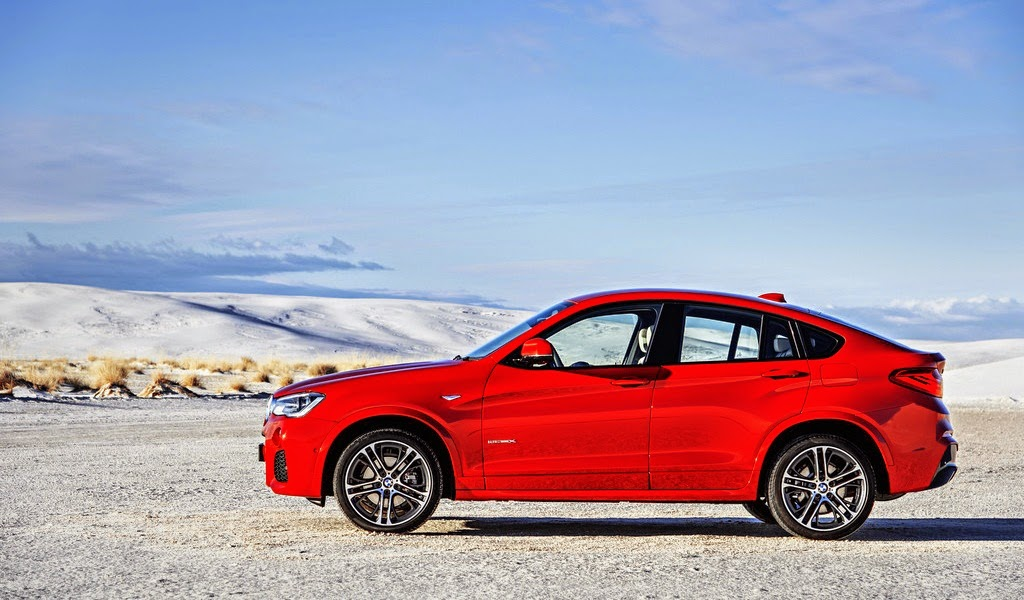 2015 BMW X4 M Sport Package Melbourne Red Metallic Side Wallpaper