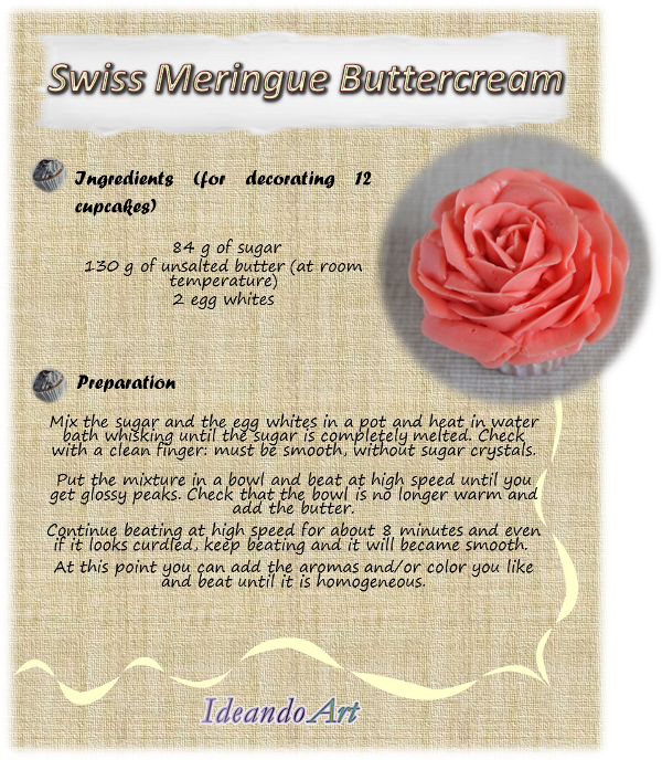 IdeandoArt: Swiss Meringue Buttercream Recipe