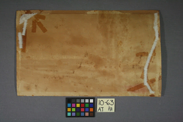art conservator treatment and repair, tape damage on paper