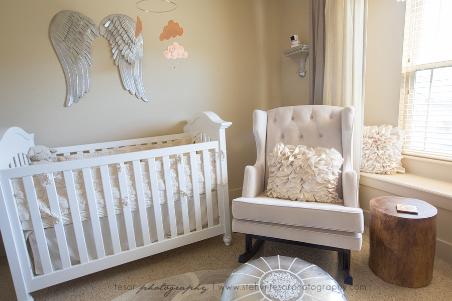 Nursery Peach Amp Grey Angelic Nursery Life Amp Baby