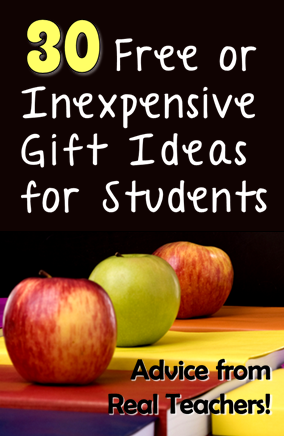 Corkboard Connections: 30 Free or Inexpensive Gift Ideas for Students