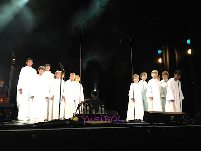 A picture of Libera boys during the concert in Jersey, Channel Islands.