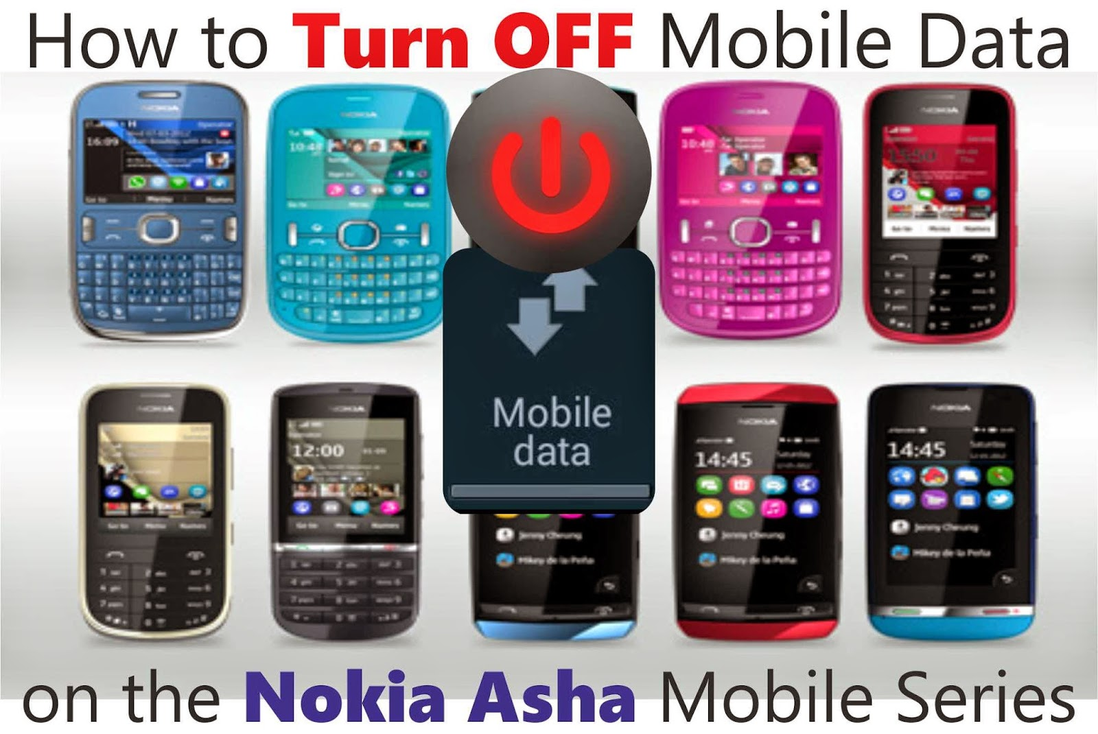 How to Turn of Internet in Nokia Asha Mobiles?