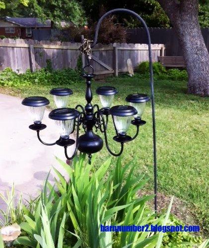 Barnnumber2 i finally saw the light diy solar chandelier for Solar light chandelier diy