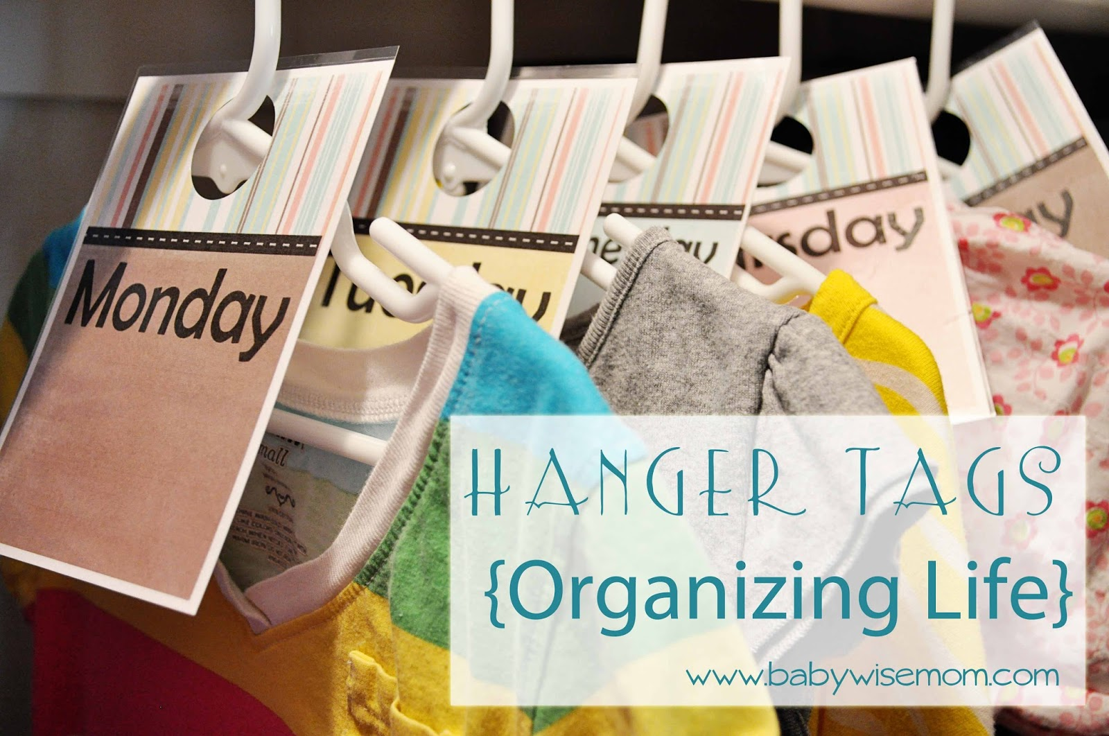 Chronicles of a Babywise Mom: Hanger Tags {Organizing Life} Free ...