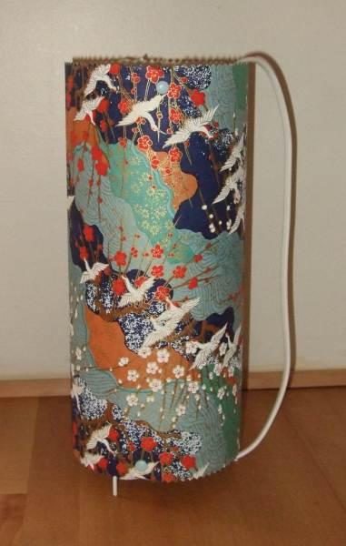 Lampes bijoux pochettes lampe recouverte de papier japonais gr - Recouvrir un abat jour avec du papier ...