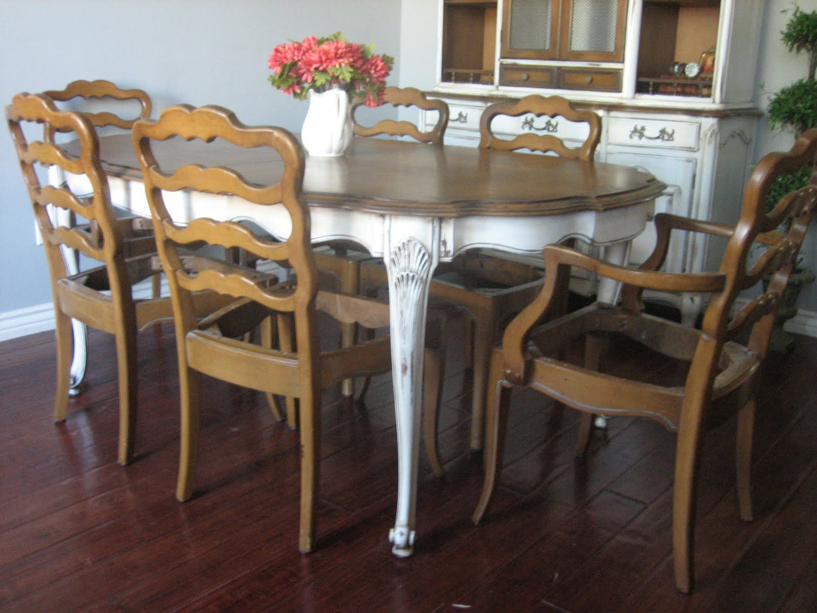 beautiful painted french country dining room table