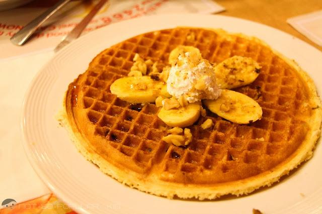 Tastefully done waffles by Pancake House - Caramel Banana Walnut