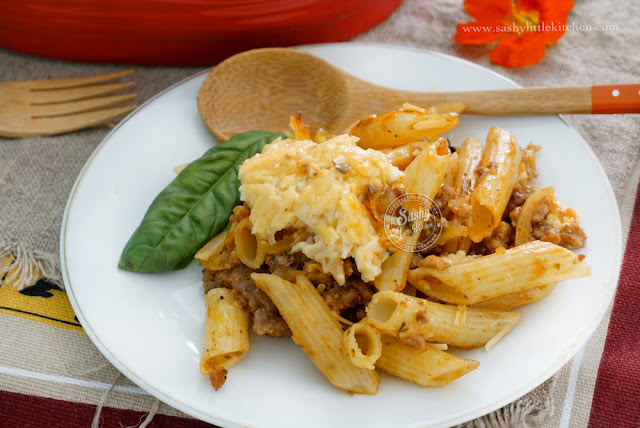 Creamy Baked Penne by Sashy Little Kitchen