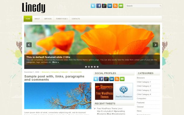 Nature Floral Grunge Free Wordpress Theme Template