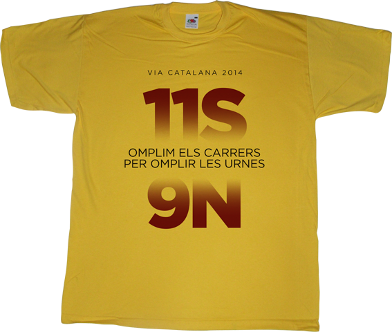 referendum freedom catalonia independence 11 septembre 11S 9n countdown t-shirt ephemeral-t-shirts