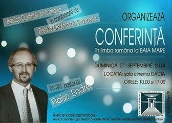 Conferinţa Bisericilor Credinţei din România - Promo Sponsorizat
