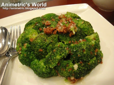 Wok Fried Minced Bacon and Garlic with Broccoli at Passion Restaurant in Resorts World Manila