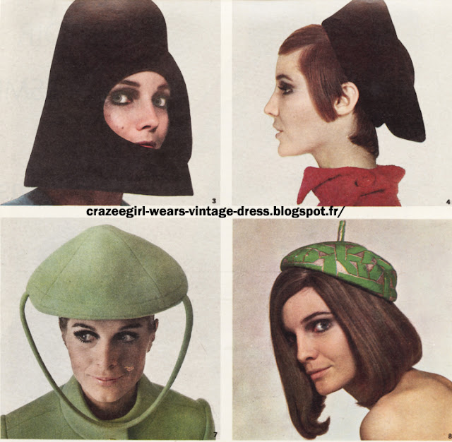 Maggy Rouff Pierre Cardin  Christian Dior 1966 60s 1960 hat beret cap