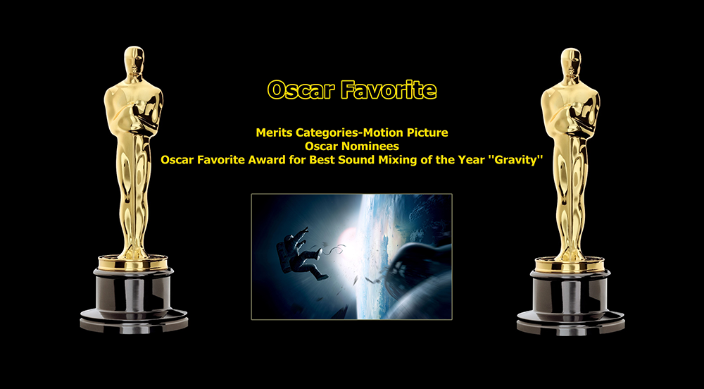 oscar favorite best sound mixing award gravity
