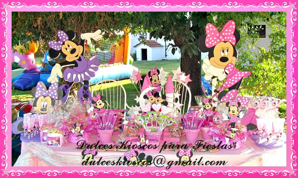 """Dulces Kioscos para Fiestas"""" : Cumpleaños Tematico de Minnie en ..."""