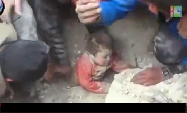 Kanak-Kanak Ditemui Masih Hidup Bawah Runtuhan Di Syria