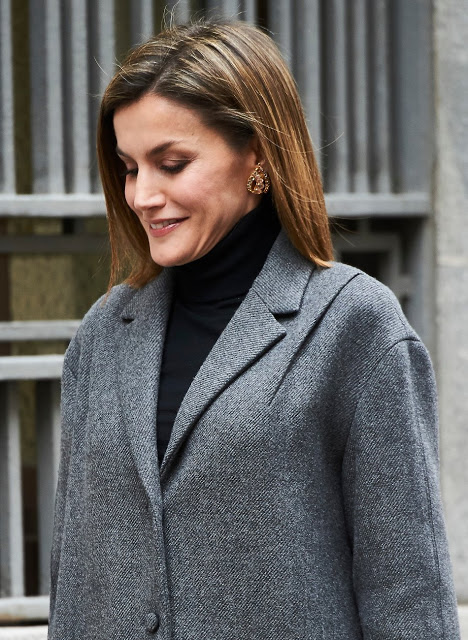 Queen Letizia Attended The Working Meeting Of The AECC