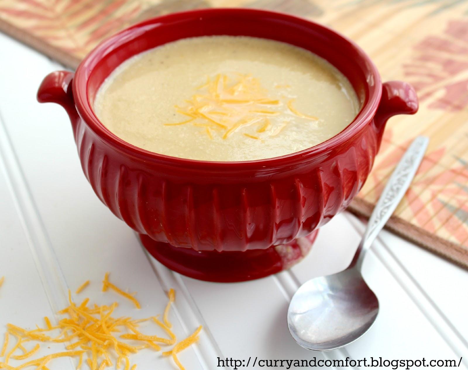Kitchen Simmer: Creamy Cauliflower Cheddar Cheese Soup