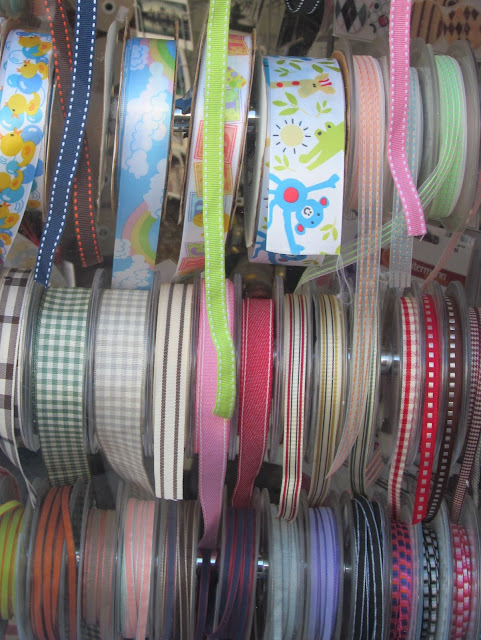 Multi coloured ribbons