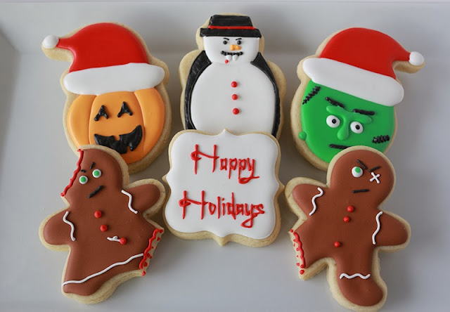 halloween-themed christmas cookies