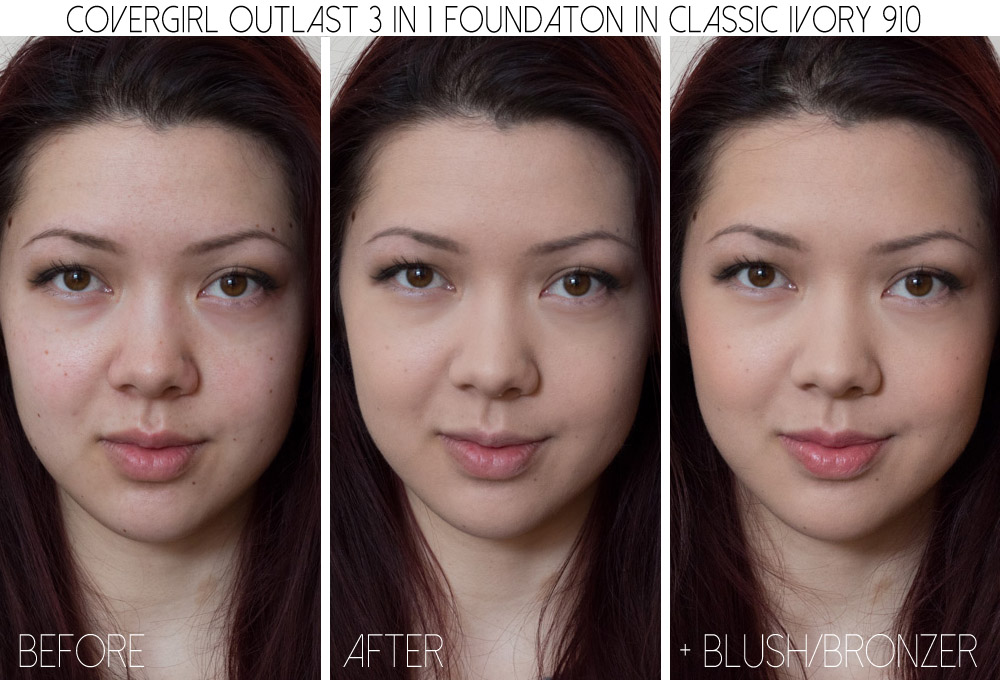covergirl outlast foundation classic ivory 810 910 review
