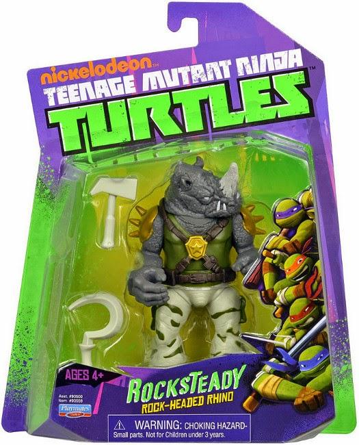 JUGUETES - LAS TORTUGAS NINJA  Rocksteady | Muñeco - Figura  Producto Oficial 2015 | Playmates 90559 | A partir de 4 años