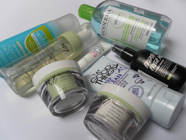 A picture of skincare products