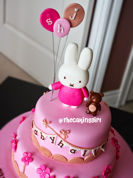 cute girly miffy cake