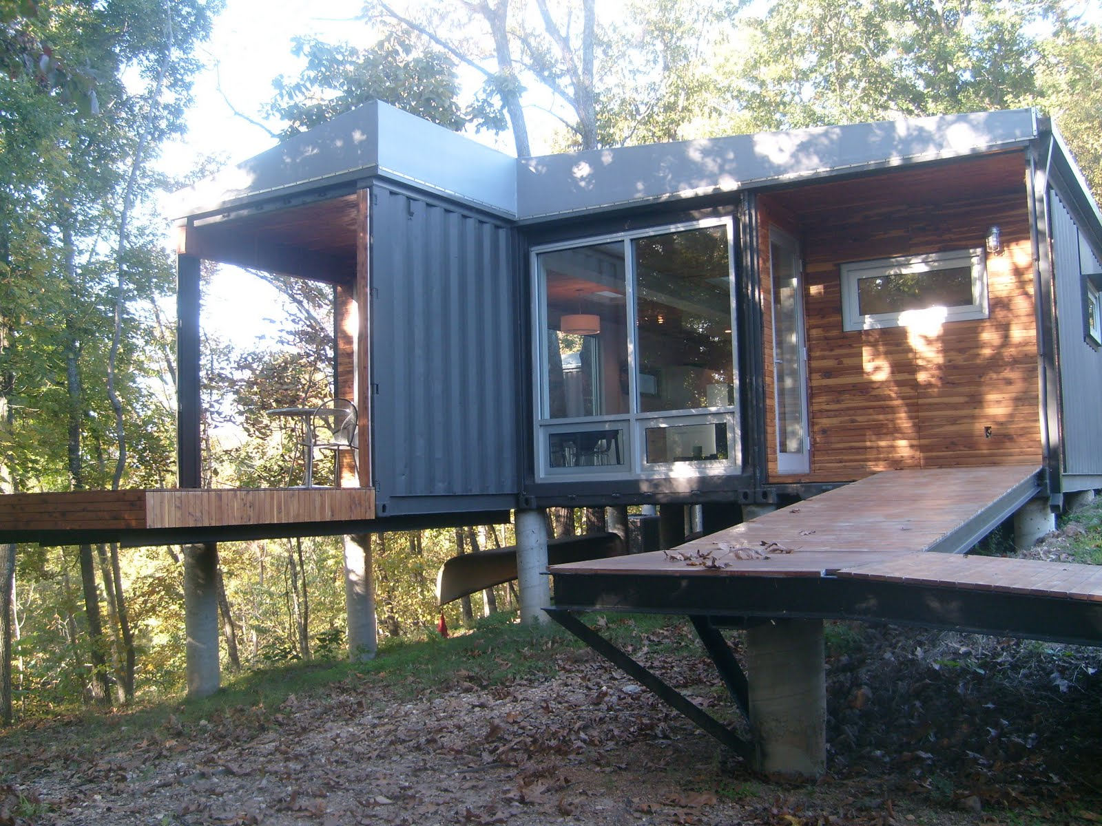 Shipping container homes the 8747 house the james river springfield missouri 4 shipping - Building shipping container homes ...