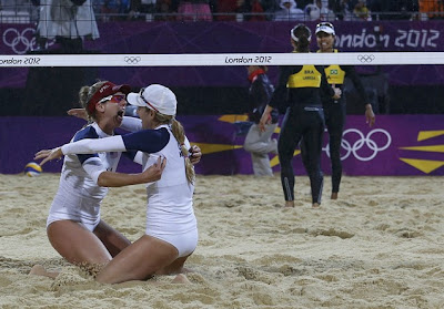 April Ross Jennifer Kessy butts bikini London Olympics beach volleyball