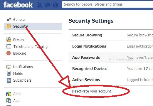Learn how to delete or deactivate a facebook account technology here you will be asked reason for deactivation of your account after writing the reason click confirm button and your account will become deactivated ccuart Choice Image